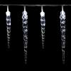 Karácsonyi dekoratív világítás -jégcsapok rampouchy - 40 LED hideg fehér
