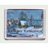 Karácsonyi hűtőmágnes III. (műanyag keretes)