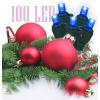 Karácsonyi izzó égősor fényfüzér, karácsonyi led égősor 100db-os (kék)