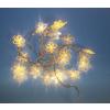 Karácsonyi LED világítás - hópehely - meleg fehér 20 LED