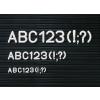 Karakterkészlet információs táblához, fél doboz, 30 mm