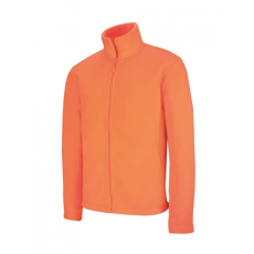 KARIBAN FALCO cipzáras polárpulóver, fluo orange