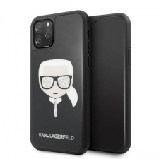 Karl Lagerfeld Etui Karl Lagerfeld KLHCN58DLHBK iPhone 11 Pro fekete Ikonikus Glitter Karl's Head telefontok tok és táska