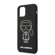 Karl Lagerfeld tok fekete (KLHCN65SILFLWBK) Apple iPhone 11 Pro Max készülékhez tok és táska