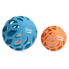 Karlie lyukacsos gumilabda LED világítással a belsejében, 11,5 cm, kék játékfigura