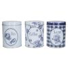 Katie Alice Tea Cukor Kávé tároló dobozok Vintage Indigo