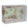 Katie Alice Time for Tea szett Cottage Flower bögre+tálca+alátét