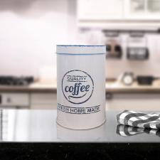 Kávésdoboz, fém, kerek konyhai eszköz