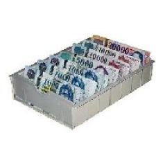 KBL 7 rekeszes bankjegy tartó pénztárfiókba pénzkazetta