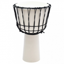 Kecskebőr djembe dob feszítőkötéllel 30,5 cm kreatív és készségfejlesztő