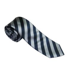 Kék-ezüstszürke csíkos nyakkendő