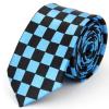 Kék-fekete kockás nyakkendő