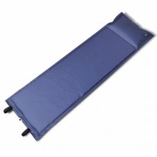 Kék önfelfújós matrac 185 x 55 x 3 cm egyszemélyes hálózsák
