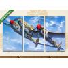 Képáruház.hu Amerikai harci repülő az égen(125x70 cm, L01 Többrészes Vászonkép)