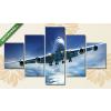Képáruház.hu Boeing 747 Aerodrom a levegőben(135x70 cm, S01 Többrészes Vászonkép)