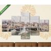 Képáruház.hu Camille Pissarro: Rouen egy borult reggeli napon(135x70 cm, S01 Többrészes Vászonkép)