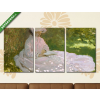 Képáruház.hu Claude Monet: Tavasz (1872)(125x60 cm, L02 Többrészes Vászonkép)