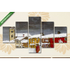 Képáruház.hu Harald Sohlberg: Téli utca Rorosban(135x70 cm, S01 Többrészes Vászonkép)