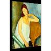 Képáruház.hu Modigliani: Jeanne Hébuterne portréja fehér hálóingben (színverzió v1)(20x25 cm, vászonkép)