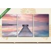 Képáruház.hu Móló naplementében(125x60 cm, L02 Többrészes Vászonkép)