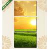 Képáruház.hu Napkelte a réten(125x60 cm, L02 Többrészes Vászonkép)