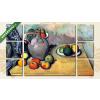 Képáruház.hu Paul Cézanne: Csendélet korsóval és gyümölcsökkel az asztalon(135x80 cm, W01 Többrészes Vászonkép)