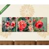 Képáruház.hu Pierre Auguste Renoir: Rózsás csendélet(125x40 cm, B01 Többrészes Vászonkép)