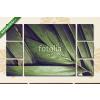 Képáruház.hu Premium Kollekció: A részletes esőerdők dzsungelje közel kerül a háttérbe(135x80 cm, W01 Többrészes Vászonkép)