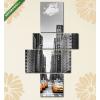Képáruház.hu Premium Kollekció: Avenue avec des taxis à New York.(125x70 cm, S02 Többrészes Vászonkép)