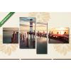 Képáruház.hu Premium Kollekció: Singapour(125x70 cm, S02 Többrészes Vászonkép)