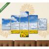 Képáruház.hu Premium Kollekció: sunflowers field(135x70 cm, S01 Többrészes Vászonkép)