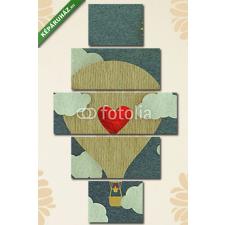 Képáruház.hu Premium Kollekció: Valantine képeslapja(135x70 cm, S01 Többrészes Vászonkép) képeslap