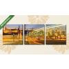Képáruház.hu Premium Kollekció: Villamosvilágítási nyomvonal mozgatása a budai történelmi épület(125x40 cm, B01 Többrészes Vászonkép)