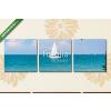 Képáruház.hu Premium Kollekció: Vitorlázás Balaton tónál(125x40 cm, B01 Többrészes Vászonkép)