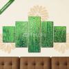 Képáruház.hu Premium Kollekció: Zöld akrilfesték háttértextúra papír(135x70 cm, S01 Többrészes Vászonkép)