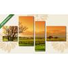 Képáruház.hu Szőlőültetvény fákkal(125x70 cm, S02 Többrészes Vászonkép)