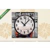 Képáruház.hu Vászonkép óra, Premium Kollekció: A nagy utazások kis lépésekkel kezdődnek, inspirációs idézet(25x25 cm, C01)