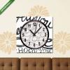 Képáruház.hu Vászonkép óra, Premium Kollekció: All You need is Love - Hand drawn quotes, black on white(25x25 cm, C01)