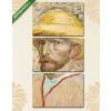 Képáruház.hu Vincent Van Gogh: Önarckép szalmakalapban(125x60 cm, L02 Többrészes Vászonkép)