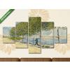 Képáruház.hu Vincent Van Gogh: Szajna-part(135x70 cm, S01 Többrészes Vászonkép)