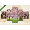 Képáruház.hu Virágba borult fák(135x70 cm, S01 Többrészes Vászonkép)