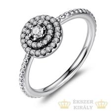 Kerek virág ezüst gyűrű, 9 gyűrű