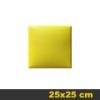 Kerma bőr falpanel, bőrpanel, Arden-111 Sárga (25x25 cm)