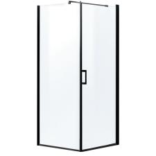 Kerra Lagos szögletes zuhanykabin tálca nélkül, 79x79x190cm - fekete profil, víztiszta üveg fürdőszoba kiegészítő