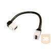keystone foglalatú HDMI toldó 20cm kábellel 90/180°-os csatlakozokkal mindkét oldalon gyári csatlakozóval HDMI 1.4 verzió csatlakozó aljzat MODD-..KEY..bepattintható