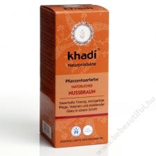 Khadi növényi hajfesték por - Természetes mogyoróbarna, 100 g hajfesték, színező