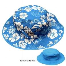 Kidz Banz Baby,-Kidz Banz gyermek napvédő sapka kifordítható kék virágos kék