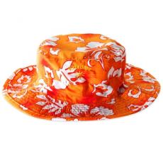 Kidz Banz Baby,-Kidz Banz gyermek napvédő sapka (Virágos narancs)