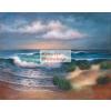 Kifestő készlet vászonra, akrilfestékkel, ecsettel, felnőtteknek - 28x36 cm - Tengerpart