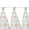 Kikko LUX Mintás textilpelenka, medvés, 80x80 cm, 3 darab